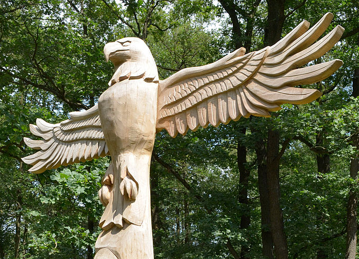 Eagle With Wings Totem Pole Made Of Wood Ziegler Spielpl 228 Tze