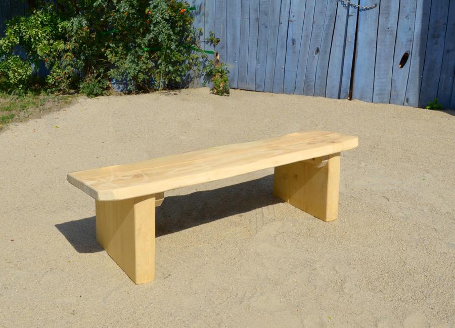 rustic bench  backrest ziegler spielplaetze