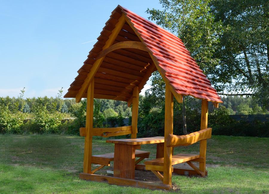 sitzgruppe mit dach ziegler spielpl tze. Black Bedroom Furniture Sets. Home Design Ideas