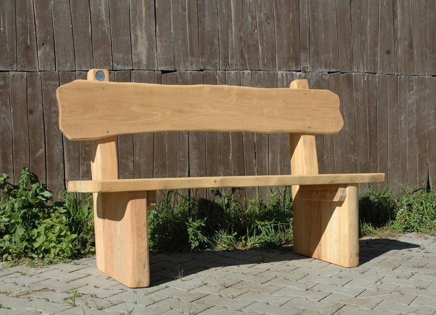 wooden bench rustic bench  backrest ziegler spielplaetze