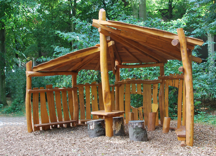 Shelter Made Of Wood Ziegler Spielpl 228 Tze