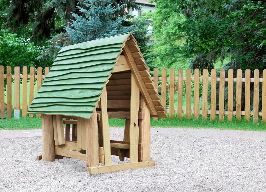 spielhaus waldhaus, kindergarten geeignet - ziegler spielplätze,