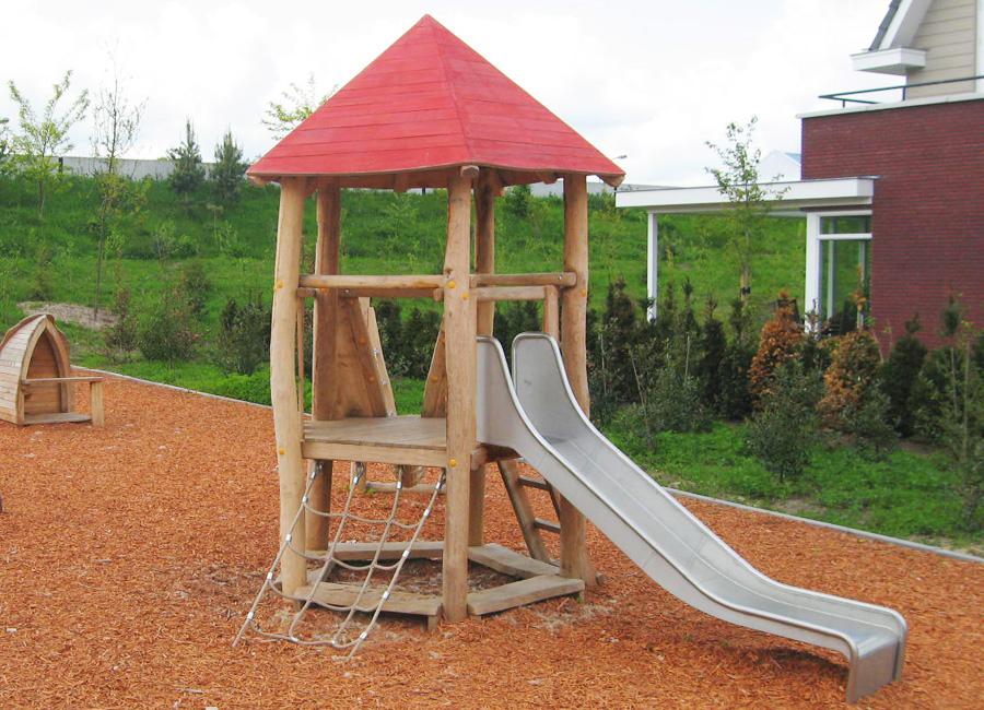 Unterschiedlich Spielturm - Fünfeckturm mit Dschungelbrücke - Ziegler Spielplätze NQ39